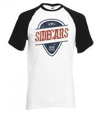 "Camiseta manga ranglan ""Púa Sidecars"""