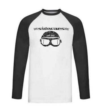 """Camiseta manga larga ranglan """"Gafas negras"""""""